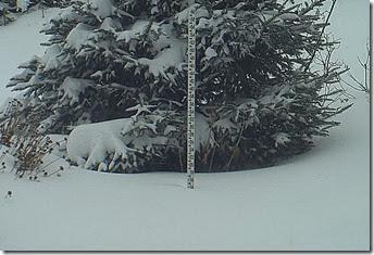 Vermont 16 in snow