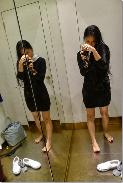 H&M black knitwear pullover dress