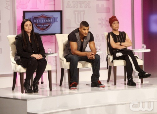 Kelly Cutrone, Rob Evans and Bryanboy in America's Next Top Model Season 19 College Edition