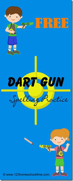 Spelling Games - FREE Dart Gun Spelling Practice