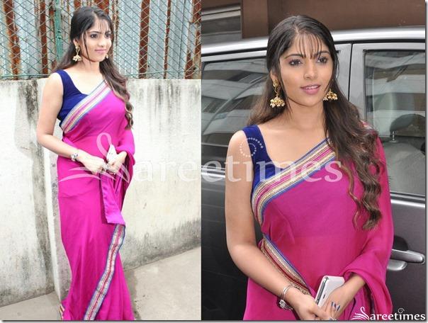 Muktha_Bhanu_Pink_Georgette_Saree