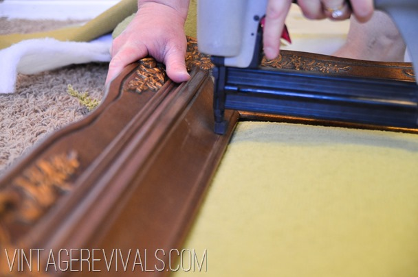 DIY Upholstered Headboard Tutorial @ Vintagerevivals.com-19