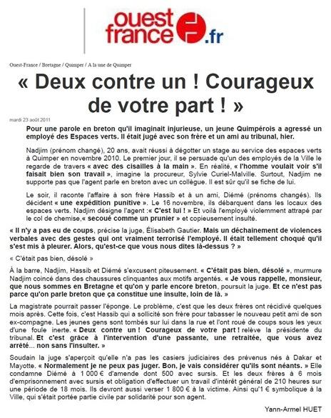 Lo coratge de l'ignorança francesa Ouest-France 230811