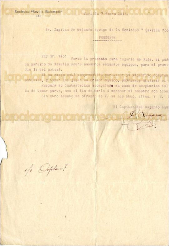 1913-01-07 SEVILLA BALOMPIE