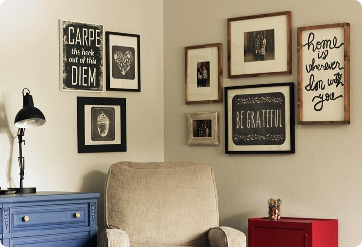 Wallternatives and easy corner gallery wall 1
