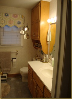 "SylviaS VintagE DaughteR: Before and after…a bathroom ""design on a"