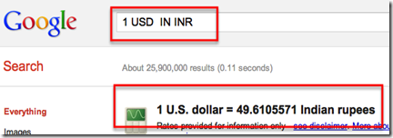 Google Search 1 usd in inr