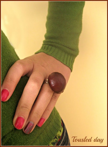 DIY chestnut ring