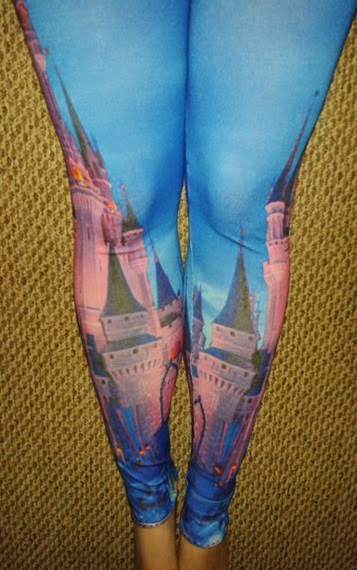 Disney Castle Leggings from Lexis Tricks