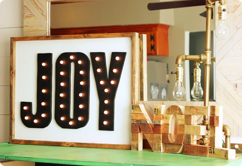 DIY LIGHTED JOY MARQUEE SIGN