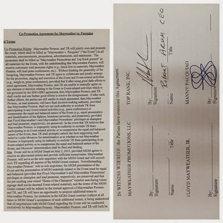 Manny Pacquiao-Floyd Mayweather contract