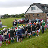 2/7/2012 ECHO SPORT Youngsters listen to former club chairman John Twomey and Cork senior hurling goalkeeper Donal óg Cusack at the start of the inaugural Camp Ciaran at the Shamrocks GAA Club (Pic Howard Crowdy)