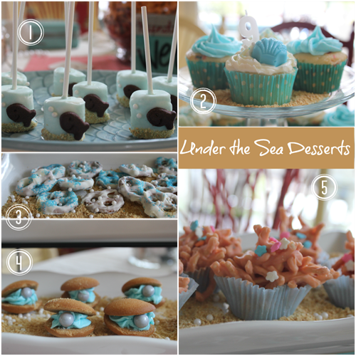 Under the Sea Party Desserts Instructions