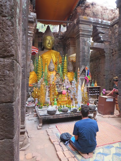 Inside Vat Phou temple