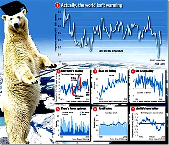 Polar Bear Prof - World Not Warming