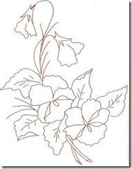 risco flor pintura em tecido 12