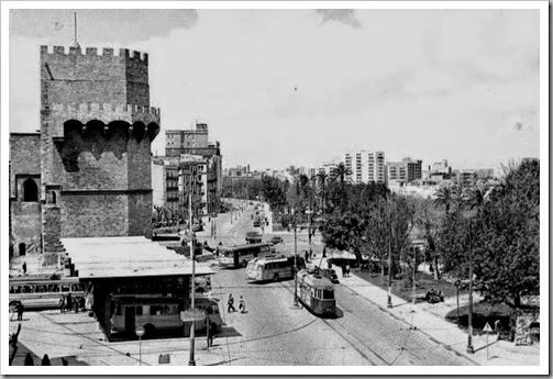 años 60 estacion autobuses torres serranos_