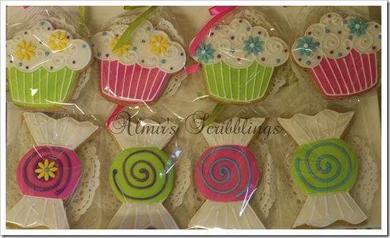 cupcake and sweets sugar cookies