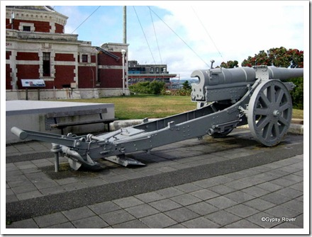 Botanic Garden Battery 1894 -1904 with a captured German Krupps cannon.
