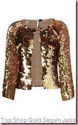 Top Shop Knitted Gold Sequin Jacket