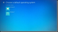 Choosing default OS in Win 8 boot manager