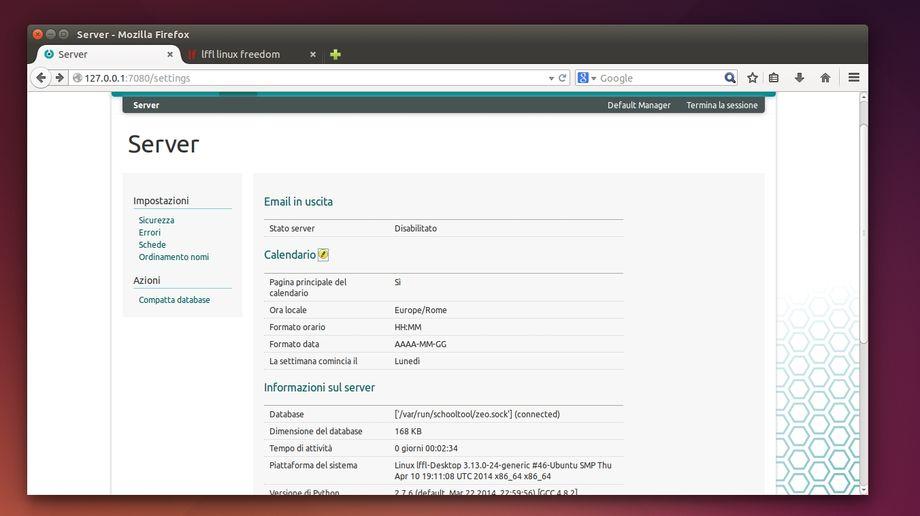 SchoolTool - gestione server