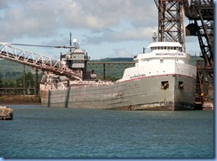 5016 Michigan - Sault Sainte Marie, MI -  St Marys River - Soo Locks Boat Tours -  the lake freighter Michipicoten at Algoma Steel Company, Sault Sainte Marie Canada