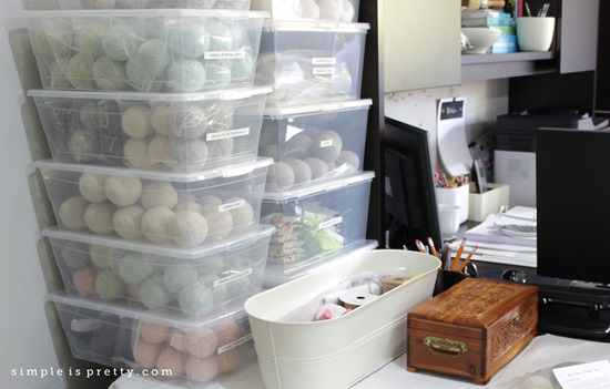 Simple is Pretty Shop Studio Packing Area