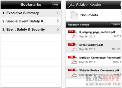 Adobe PDF Reader untuk iPhone dan iPad