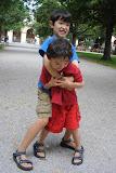 Eidan and Kai in the Hofgarten