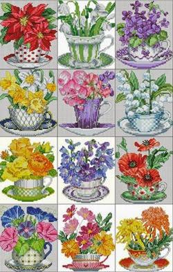 """Календарь""""Букеты чайной Чашки"""""""