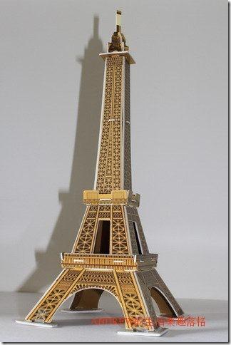 艾菲爾鐵塔(下方斜側面) 地標模型
