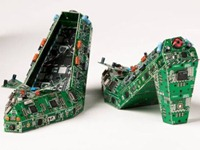 Circuit Board Shoes by Qiehn