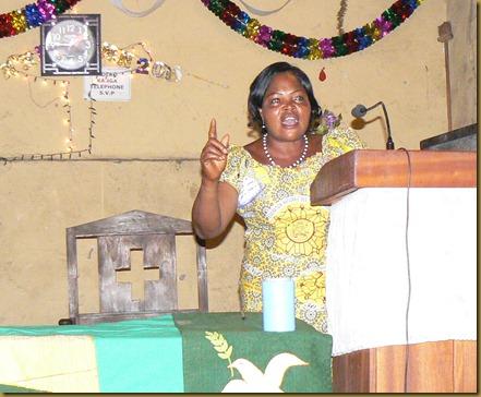 Pastor Ngalula teaching