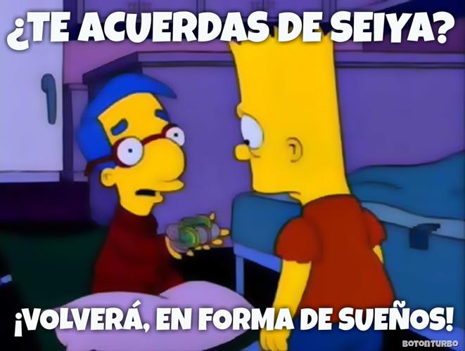 Bart volverá Seiya en forma de fichas