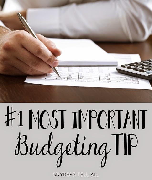 #1 Budgeting Tip