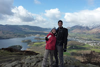 KJ and G atop Walla Crag
