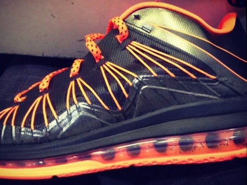 Sneak Peek at Nike Air Max LeBron X Low 8211 Black  Orange