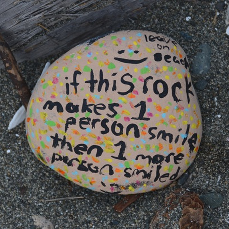 Qualicum Beach Smiling Rock