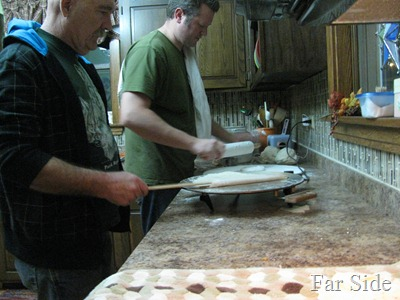 Andy and Gene making lefsa