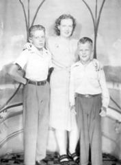 Ruby Lapriel Riggs Smith, and her two boys, Grant & Clayn
