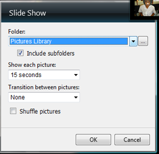slideshow on desktop