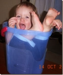 A bucket of baby