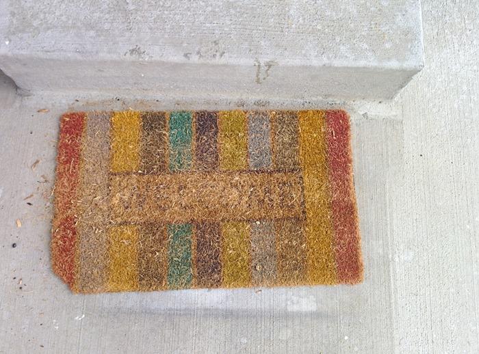 DIY Doormat and DIY Welcome mat