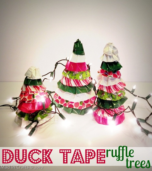Duck Tape Ruffle Tree Decor