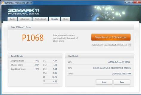 Lenovo IdeaPad z470 benchmark. 3dmark11
