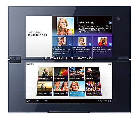 SONY TABLET P ANDROID CLAMSHELL   PRICEultra-portability dual 5.5-inch TFT screens super-quick NVIDIA® Tegra™2 mobile processor
