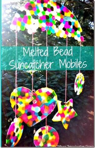 Melted Bead Sun catcher from Where Imagination Grows