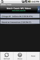 Screenshot of WNBA Feeds