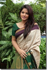 Beautiful Neetu Chandra in Cotton Saree Stills